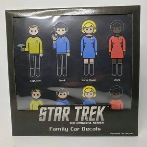 Think Geek Original Star Trek Family Car Decals